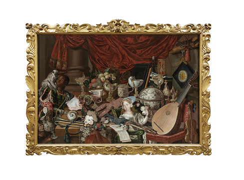 A photo that displays an artistic portrait of a variety of antiques