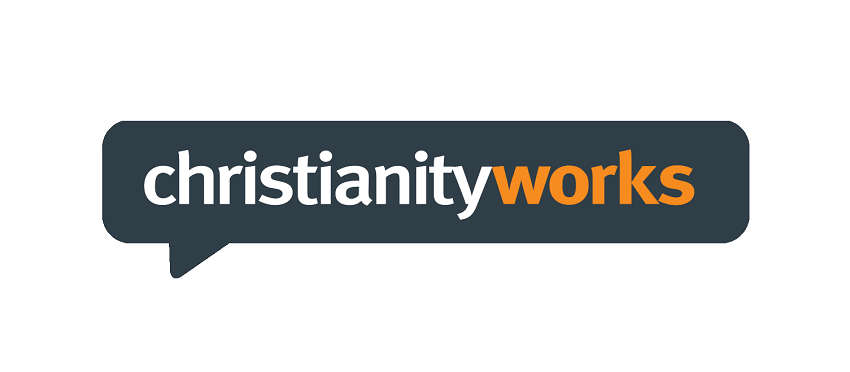 A photo of the christianity works logo