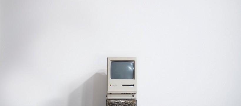 A stock image of an old computer