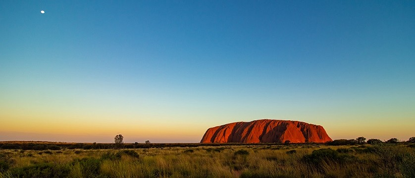 a stock image of ayers rock in australia