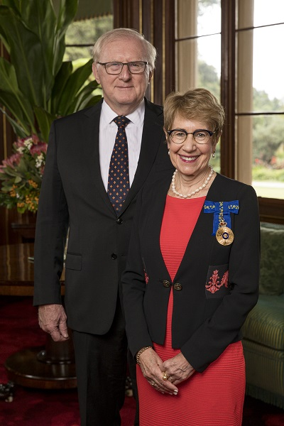 Her Excellency the Honourable Margaret Beazley AO QC Governor of New South Wales and Mr Dennis Wilson Low Res