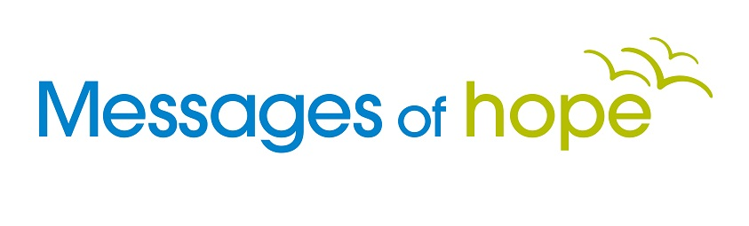 A logo for Messages of Hope