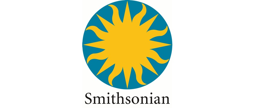 logo The Smithsonian yellow sun on blue circle