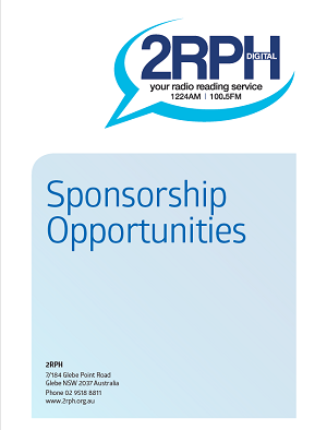 A photo of the front page of the 2019 2rph sponsorship opportunities brochure